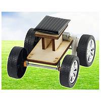 DIY Солнечная Деревянные Авто Игрушка образовательных Ассамблеи модель для детей