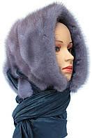 Женская норковая Косынка (серо-голубая)