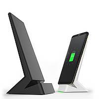 Qi Беспроводное зарядное устройство Быстрая зарядная стойка для док-станции для iPhone 8/Plus / X / Galaxy S8 Plus