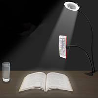 Универсальный настольный ПК Lazy Holder с LED Лампа Selfie Light для iPhone Samsung Xiaomi