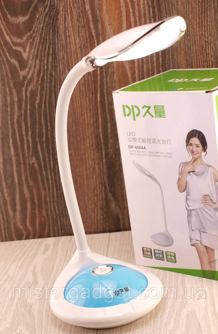 Настольная сенсорная лампа с аккумулятором Dp-6004A Диодный светильник