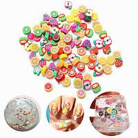 100PCS DIY Слизь аксессуары Декор Fruitcake Цветочная полимерная глина Toy Ногти Beauty Ornament