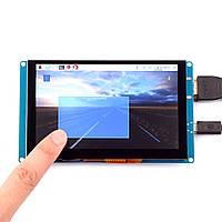 5 дюймов 800 * 480 Разрешение HD Емкость Сенсорный экран Поддержка USB-управления для Raspberry Pi