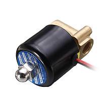 AC 240V с нормально замкнутым электрическим электромагнитным клапаном Водяной воздух 1/2 дюймов Электромагнитный клапан из латуни N / C
