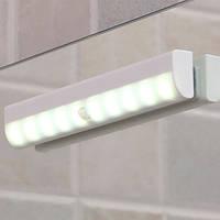 10 LED Движение Датчик Ночной свет DIY Навесной шкаф для кабинета Батарея