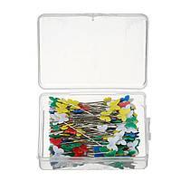 200шт Бабочка Shaped Head Pins Multicolor Швейные штыри для DIY Ремесла Пэчворк DressMaking