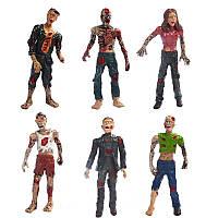 Six Set Zombie Model Terror Corpse Action Цифры Модель Игрушки для детей Детский подарок