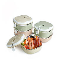 KCASA KC-BCH10 Портативный изоляционный ланч Коробка Thermal Bento из нержавеющей стали Коробка Контейнер для пищевых продуктов