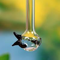 Творческий прозрачный кристаллический стеклянный соломинник Мешалка для мульчирования на рыбной лавке Трубка Праздничные подарки