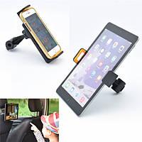 Универсальное вращение на 360 ° Авто Заднее сиденье Зажим Держатель для крепления на голову для 4-12-дюймового планшета для телефона