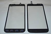 Оригинальный тачскрин / сенсор (сенсорное стекло) для LG Optimus L90 Dual SIM D410 REV 1 (черный цвет) + СКОТЧ