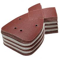 40Pcs Алюминий Оксид Мышь Шлифовальные листы 120 Грунтовка для черных и палубных деталей Palm Sander