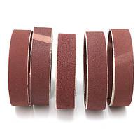 5Pcs 80/100/150/240/320 Шлифовальные шлифовальные ленты шириной 25 мм Шлифовальный пояс из оксида алюминия
