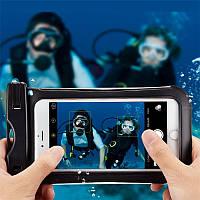 Универсальный IPX8 Водонепроницаемы Clear Touch Screen Phone Чехол Под водой Сухой Сумка для телефона под 6 дюймов