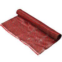 Углеродное волокно Черная красная ткань кевлара Ткань Twill Weave Panel Sheet 200gsm