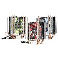 LED 4 Тепловая труба Тихий охладитель процессора Охладитель охлаждающего вентилятора для Intel LGA 1151 1155 775 1156 AMD
