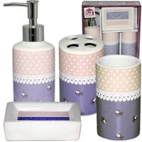 Набор аксессуаров для ванной комнаты (керамика) Ситец SNT 888-06-008