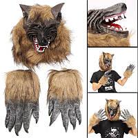 Halloween Party Домашнее украшение Перчатка перьевого перчатка Animal Маска Головные уборы игрушки