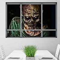 Хэллоуин 3D Ужасный Зомби Поддельный Windows Стикер Спальня Гостиная Призрачный Дом Декор Призрак Стены Стикеры