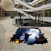 Хэллоуин Ужасный трехмерный наклейщик на этаже Спальня Гостиная Призрачный дом Декор Стены Стикеры Призрачная рука через пол