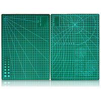 Двусторонняя зеленая доска для резки A4 Размер Pad Модель Healing Дизайн Craft Инструмент