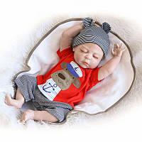 NPK 22inch Reborn Baby Кукла Handmade Lifelike Boy Кукла Силиконовый Play House Toy