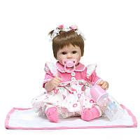 NPK 17inch Reborn Baby Кукла Vinyl Handmade Lifelike Neborn Girl Кукла Игрушка