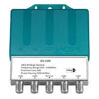 DS-04M4x1DiSEqC2.04в 1 с переключателем переключателя дождя Спутниковый LNBF Блюдо Multiswitch для FTA Приемник