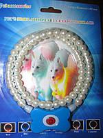 Светящийся ошейник для собак в виде жемчужин Pet's simulated pearl gleamy necklage (ОПТОМ)