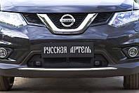 Защитная сетка решетки переднего бампера Nissan X-trail 2015+ г.в.