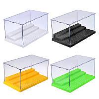 Дисплей Чехол/Коробка Пылезащитный ShowЧехол Серый База для блоков Акриловый пластик Дисплей Коробка Чехол Модельная игрушка