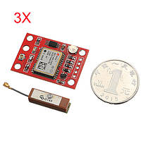 3Pcs GYNEO6MV2 GPS модуль Плата NEO-6M GY-NEO6MV2 с Антенна для Arduino