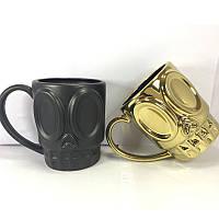 KCASA KC-FACE01 Креативный гримас Молочный пивной кофе Чай Керамический Кубок с кружкой для мусора Стеклянный тумблер