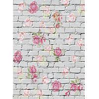 5x7ft Виниловая фотография Фон Детская цветочная стена Фото Фон Студия Prop