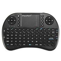 Ipazzport I8 2.4G Беспроводная испанская версия Перезаряжаемая Mini Клавиатура Touchpad Airmouse