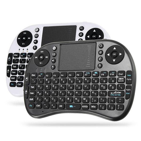 Ipazzport I8 2.4G Беспроводная иврит версия Перезаряжаемая мини-камера Клавиатура Touchpad Airmouse 1TopShop