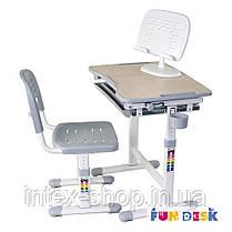 Детская парта-растишка и стульчик FunDesk Piccolino Grey, фото 3