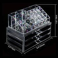 Косметичка Makeup Cosmetics Organizer Drawers Grids Display Storage Clear Acrylic (ОПТОМ)