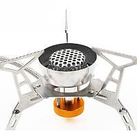 HewolfPortableНаоткрытомвоздухеГазовая плита из нержавеющей стали Split Тип Ветрозащитная печь