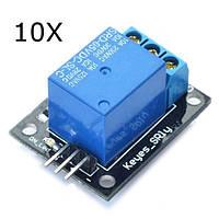 10Pcs 5V Релейный модуль 5-12V TTL-сигнал 1 канал высокого уровня расширения для Arduino