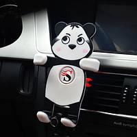 Universal Авто Держатель для воздуховодов Panda-образный крепеж SiliconE для Iphone Samsung Xiaomi Huawei