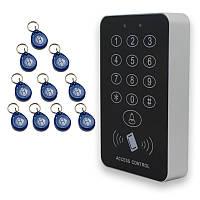 Новая высокоскоростная RFID входная дверь с дистанционным управлением Замок Система контроля доступа 500 пользователей с 10 ключами