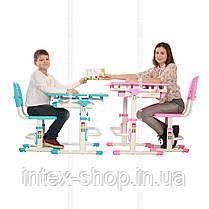 Парта і стільчик для школяра для будинку FunDesk Lavoro Blue, фото 3
