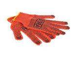 Перчатки хлопчатобумажные с точкой ПВХ оранжевые FORA 15300