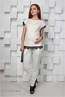 Летние брюки для беременных Dakota р. 48 ТМ Юла Мама  S15-1.17.3