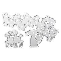 Дерево и дети Режущие штампы Трафареты для DIY Скрапбукинг фотоальбома Embossing