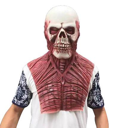 ХэллоуинЧужойзомбиДьяволЛатексМаска Костюмы Страшный карнавал для Для взрослых Голова Кровавый Ужас, фото 2
