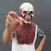 ХэллоуинЧужойзомбиДьяволЛатексМаска Костюмы Страшный карнавал для Для взрослых Голова Кровавый Ужас, фото 3