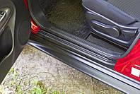 Накладки на внутренние пороги дверей Nissan Juke 2010-2014 (YF15) (Нисан Жук)
