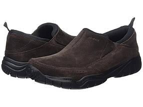 Кроссовки/Кеды (Оригинал) Crocs Swiftwater Leather Moc Espresso/Black